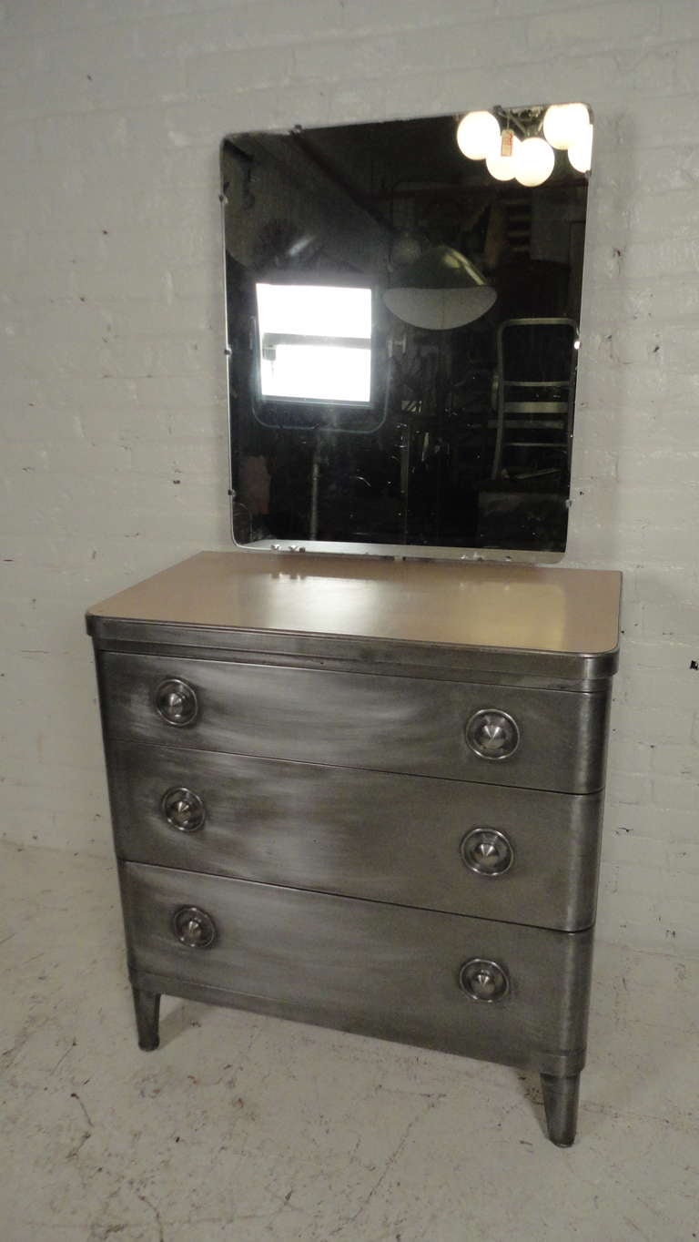 Spectacular Metal Dresser By Norman Bel Geddes For Simmons At 1stdibs