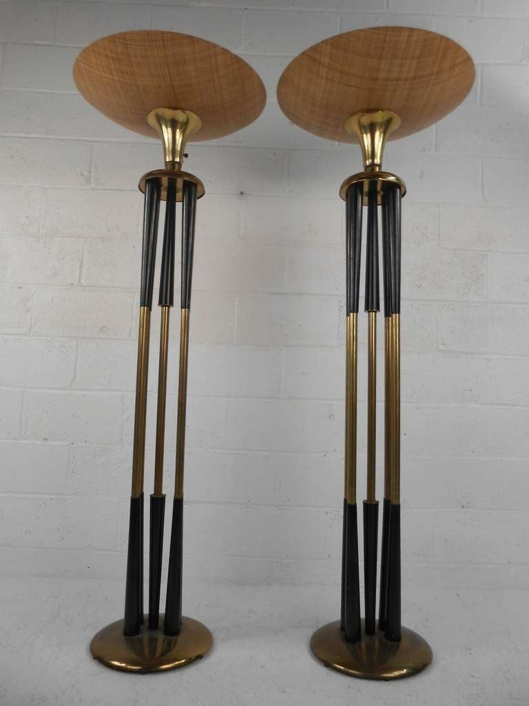 this pair vintage torchiere floor lamps is no longer available. Black Bedroom Furniture Sets. Home Design Ideas