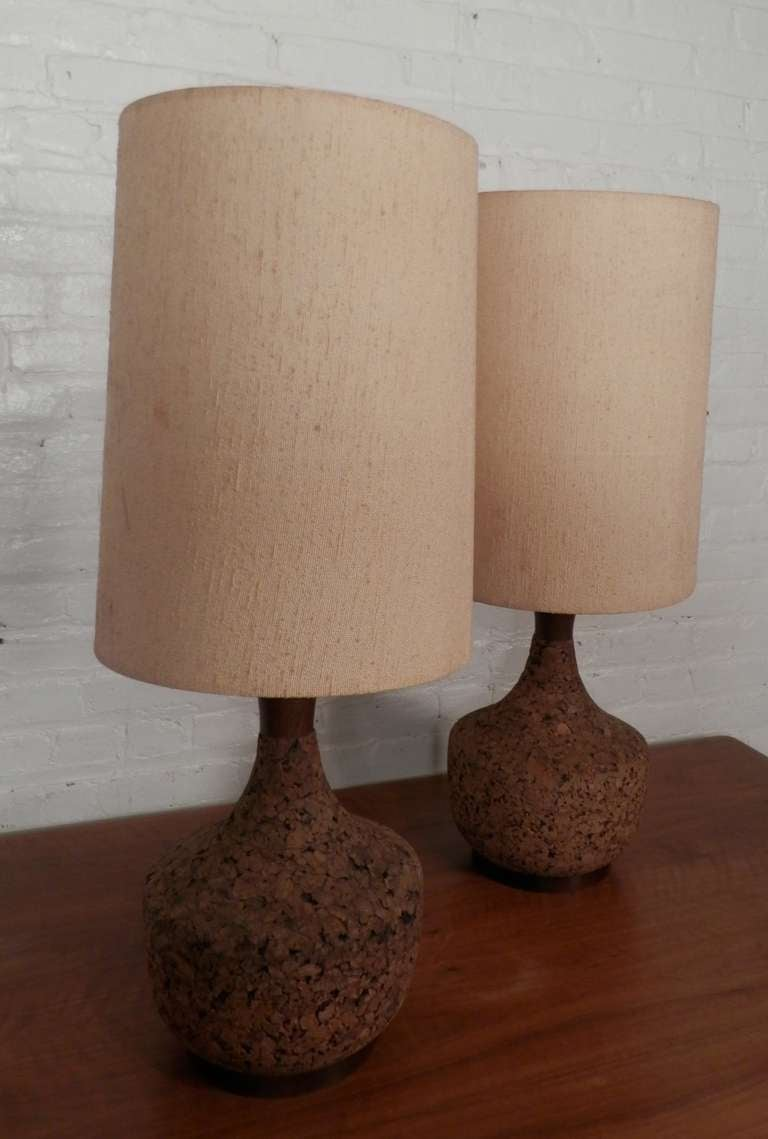 Vintage modern cork lamps for sale at 1stdibs for Wine cork lampshade