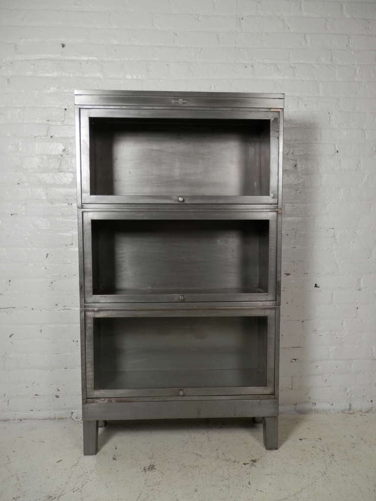 Glass And Steel Bookcase
