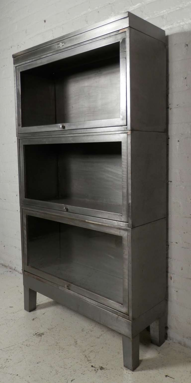 Stackable Metal Barrister Bookcase By Globe Wernicke At 1stdibs