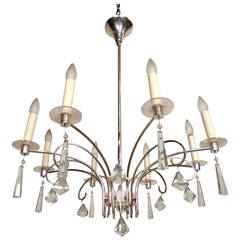 Magnificent Chrome & Crystal Chandelier