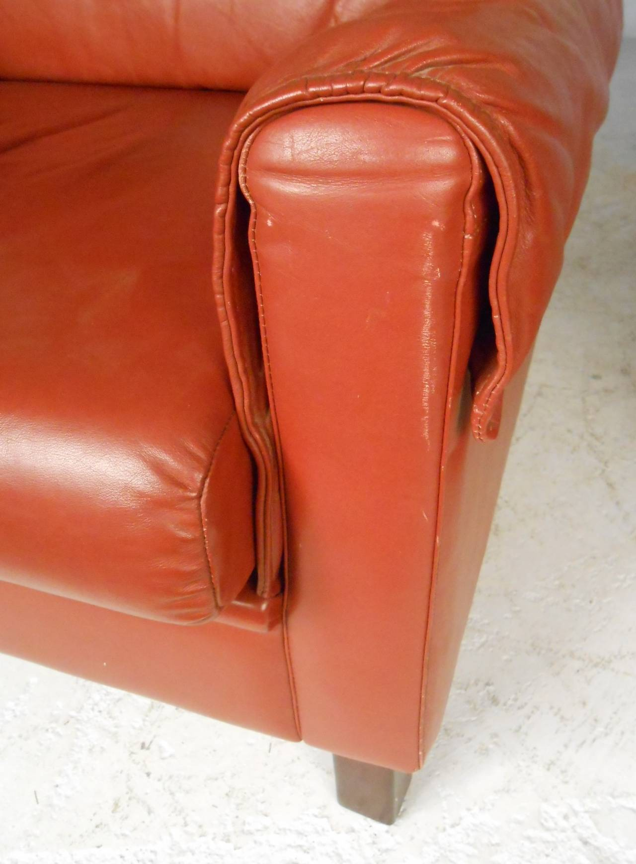 20th Century Danish Modern Wingback Leather Chairs For Sale