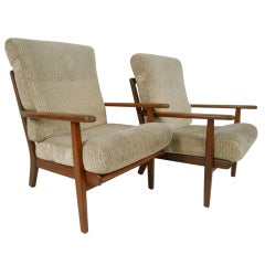 Pair of Aage Pedersen Lounge Chairs for GETAMA