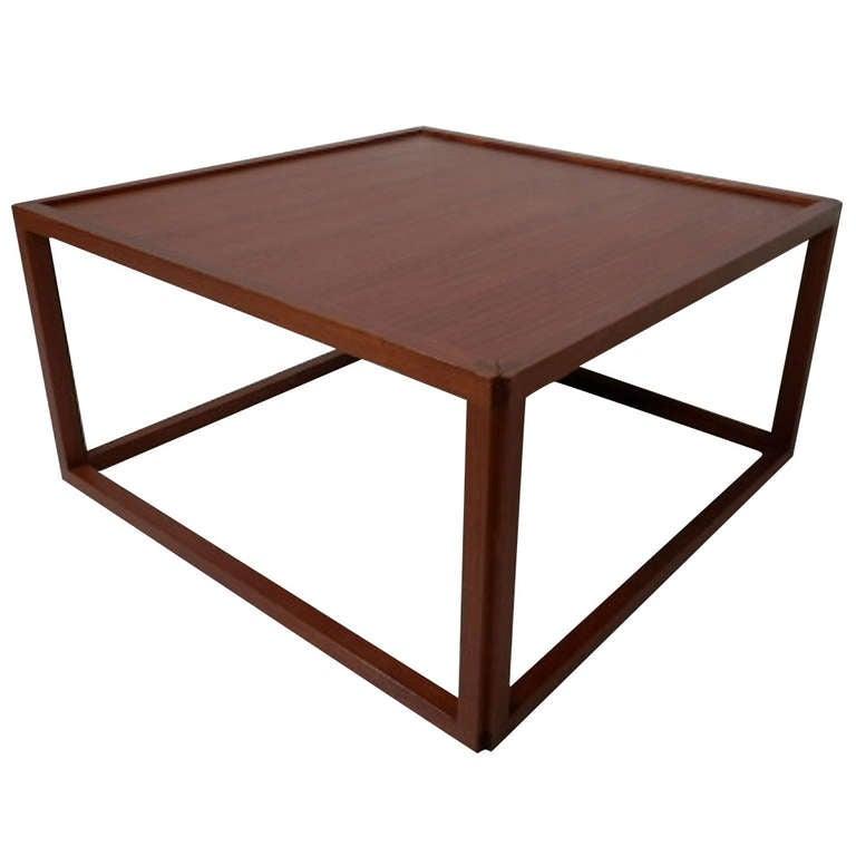 Rare Kai Kristiansen Inspired Cube Table At 1stdibs