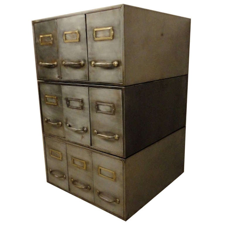 Rare Metal Stack Card File For Sale At 1stdibs