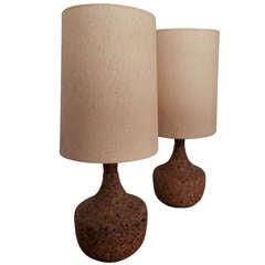 Vintage Modern Cork Lamps