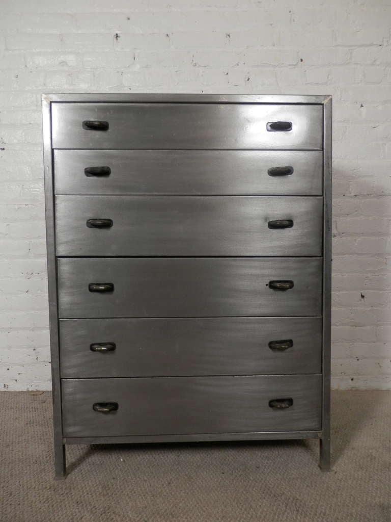 Unique Mid Century Modern Metal Dresser Designed By Simmons At 1stdibs