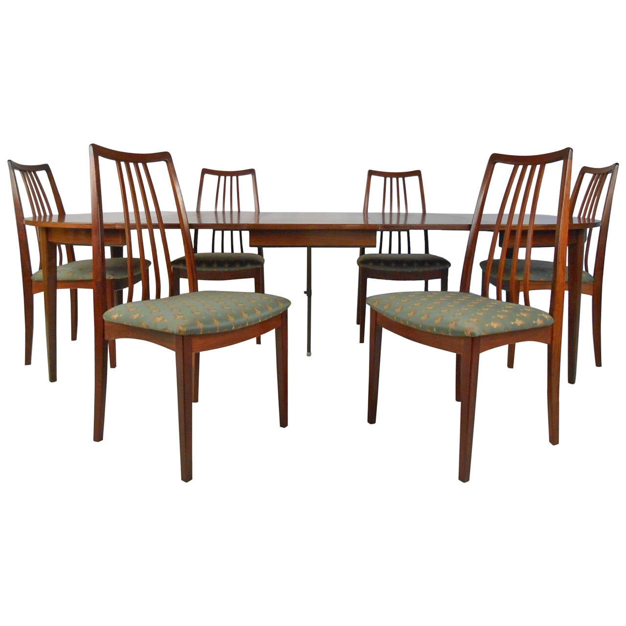 Omann Jun Rosewood Dining Table and Chairs, c. 1959