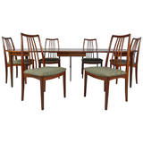 Danish Rosewood Omann Jun Dining Table Chairs