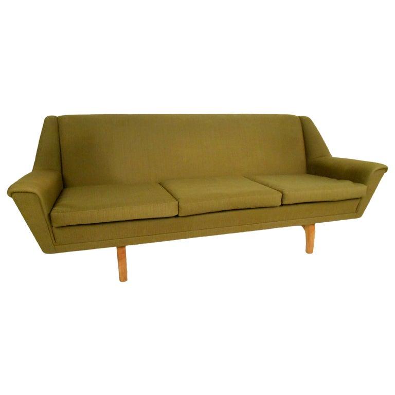 Vintage Mid Century Danish Sofa At 1stdibs