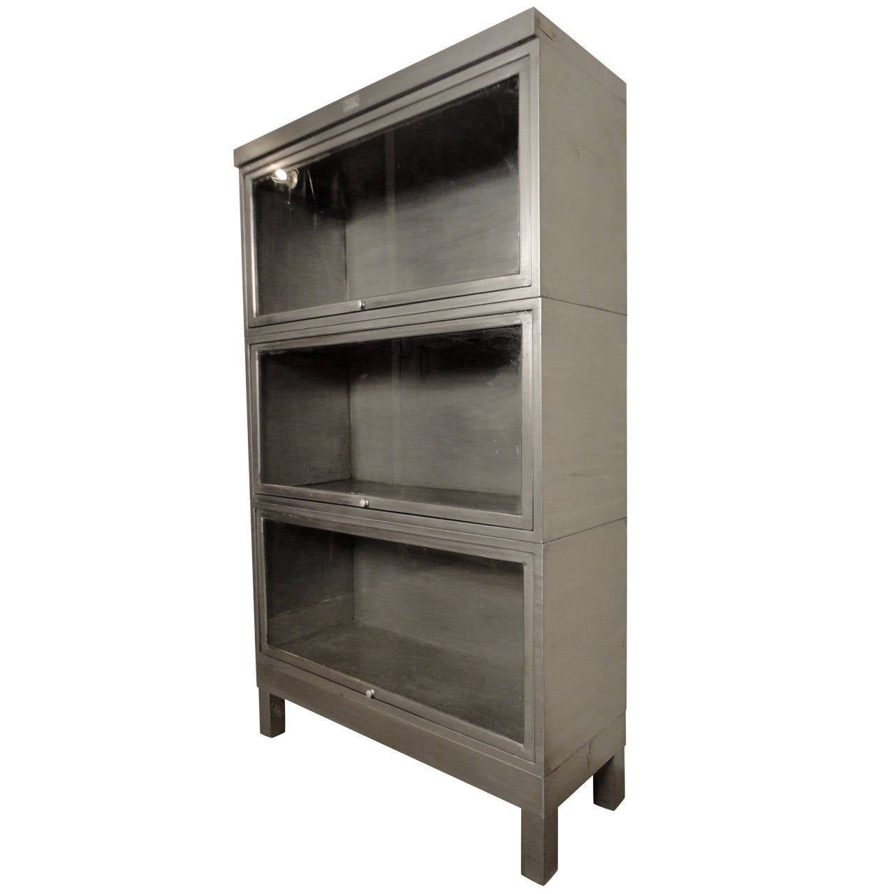 Beautifully Restored Industrial Metal Barrister Bookcase at 1stdibs