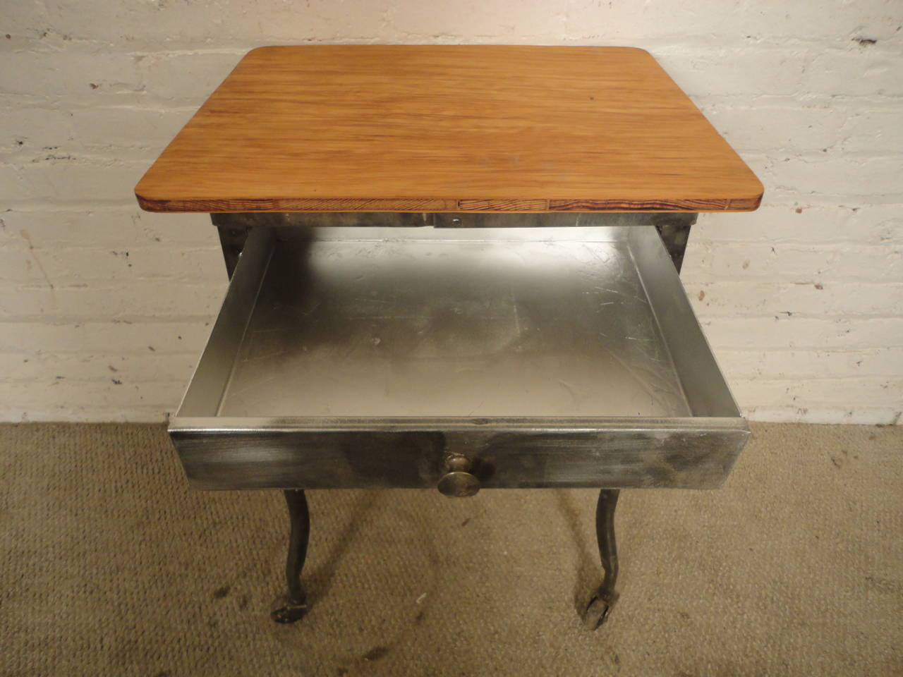 Refinished Industrial Medical Rolling Table For Sale 3