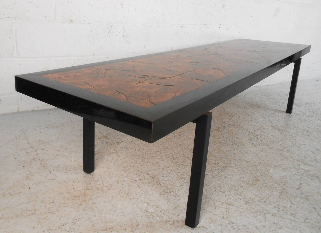 Beautiful Mid Century Modern Hammered Copper Top Coffee Table For Sale At 1stdibs