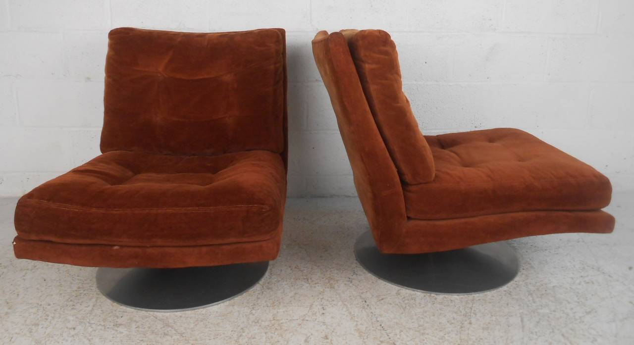 Mid-Century Modern Milo Baughman Lounge Chairs for Thayer Coggin For Sale