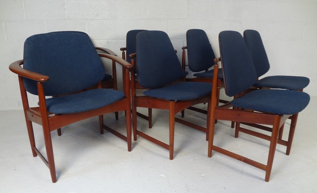 set of eight danish modern dining chairs by hovman olson at 1stdibs