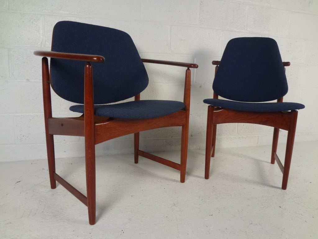 eight danish modern dining chairs by hovmand olsen for sale at 1stdibs