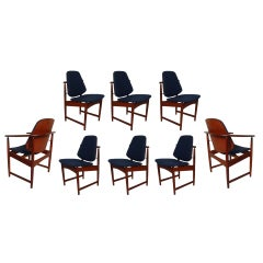 Set of Eight Danish Modern Dining Chairs by Hovmand Olsen