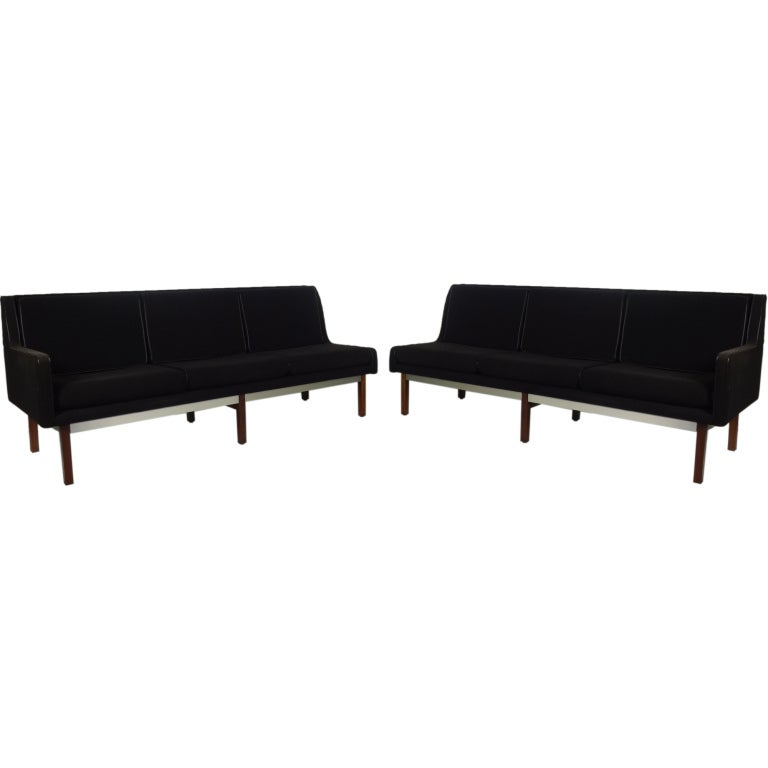 Pair Of Mid Century Modern One Arm Sofas At 1stdibs