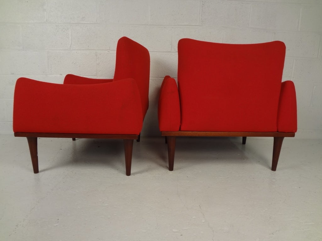 Danish modern living room suite by illum wikkelson at 1stdibs for Danish living room furniture