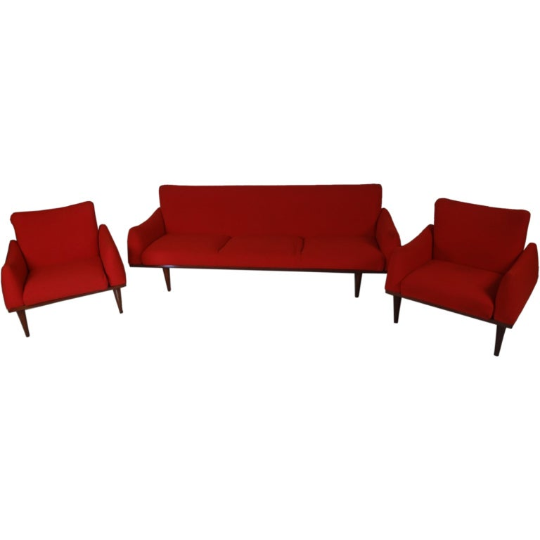 Danish modern living room suite by illum wikkelson for sale at 1stdibs