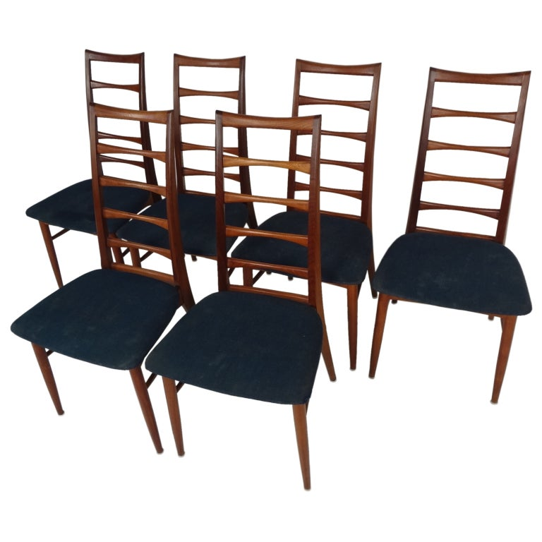 set of six danish modern dining chairs by niels kofoed at