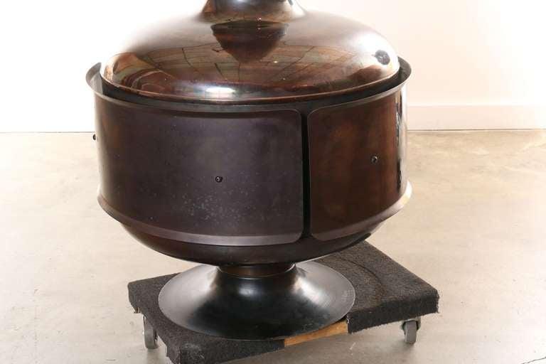Copper Fire Drum 2 Fireplace Featured In Pasadena Design