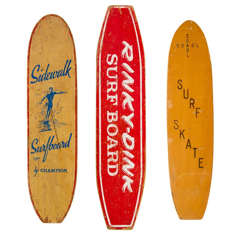 Collection Of 3 1960s Skateboards At 1stdibs