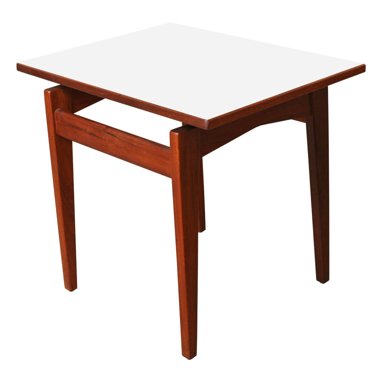 Jens risom walnut and formica side table at 1stdibs for Formica table