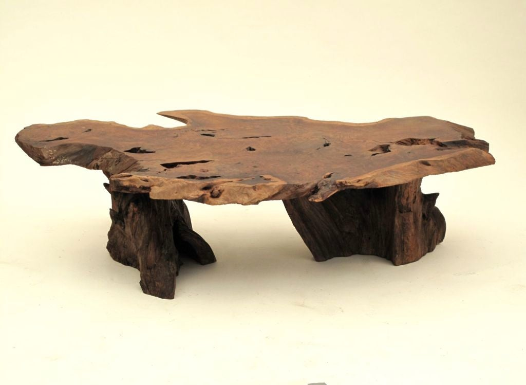 California Redwood Slab Coffee Table 2