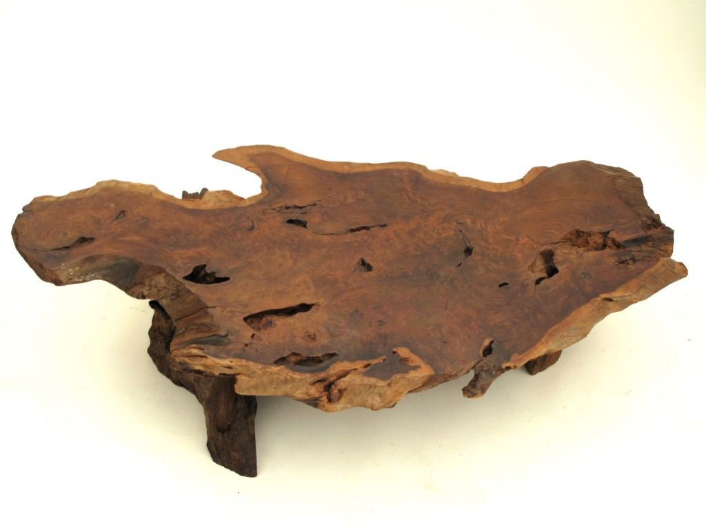 California Redwood Slab Coffee Table 3