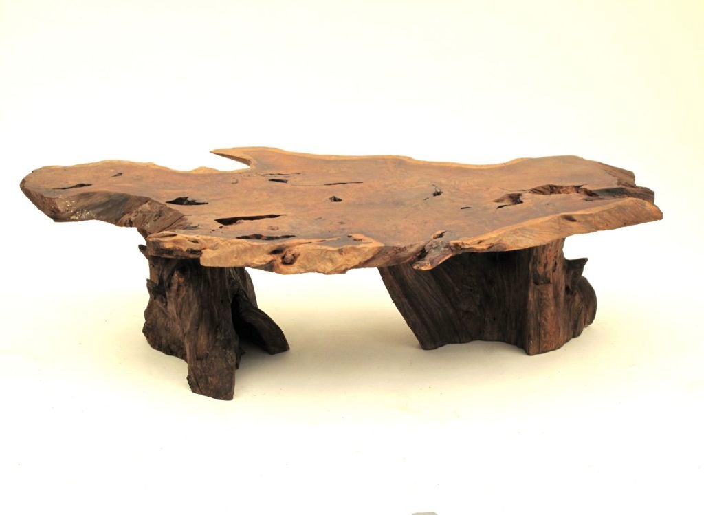 California Redwood Slab Coffee Table 5