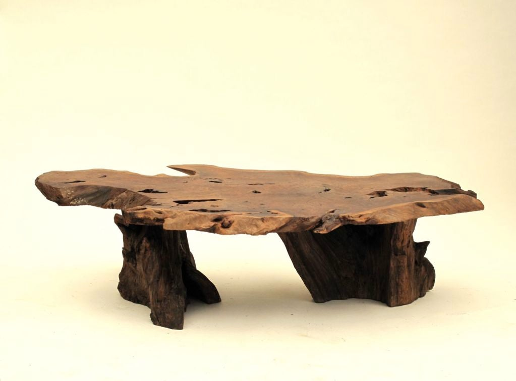 California Redwood Slab Coffee Table 7