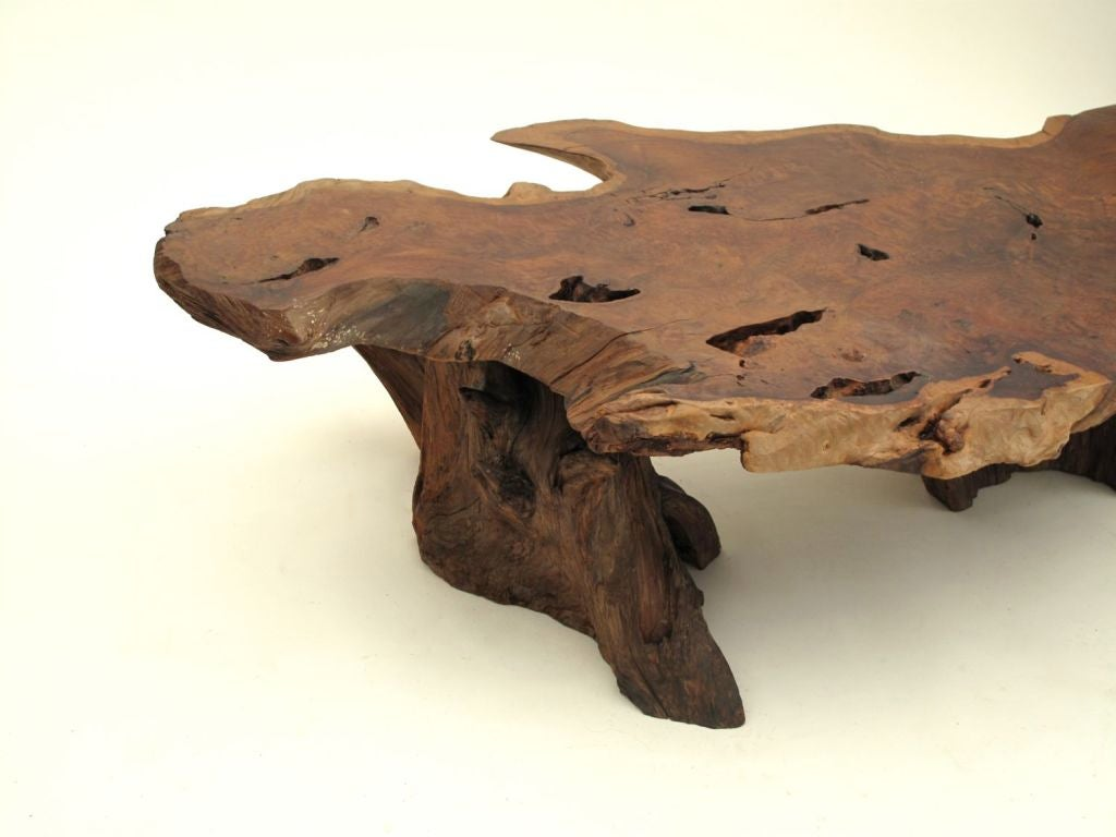 California Redwood Slab Coffee Table 6