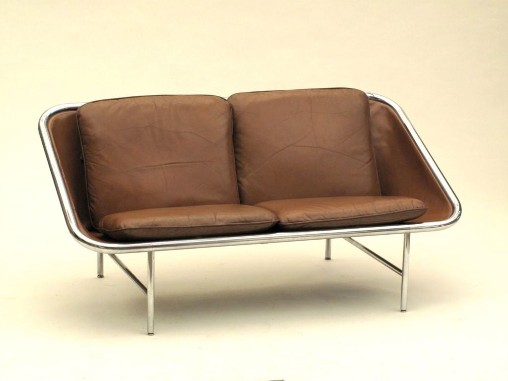 Rare George Nelson 2 Seater Sling sofa image 4