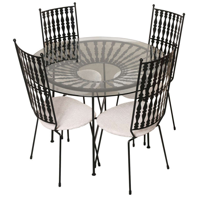 Salterini garden table and chairs maurizio tempestini for Outdoor furniture quad cities