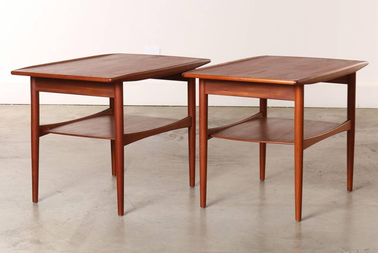Pair Of 1960s Danish Teak Side Tables By Moredo 2