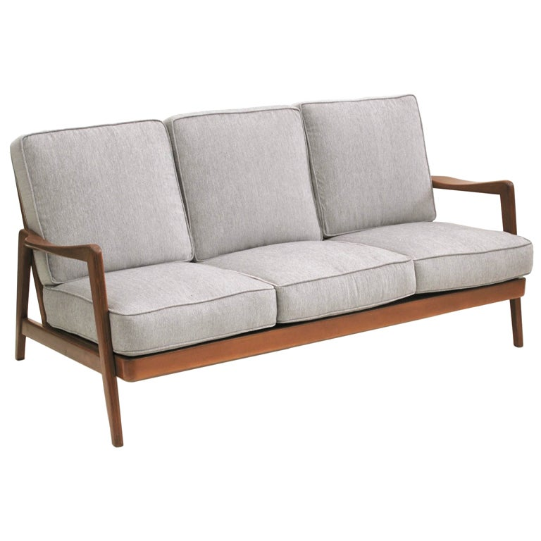 Dux mid century scandinavian design wood frame sofa 1960s for Scandinavian design furniture