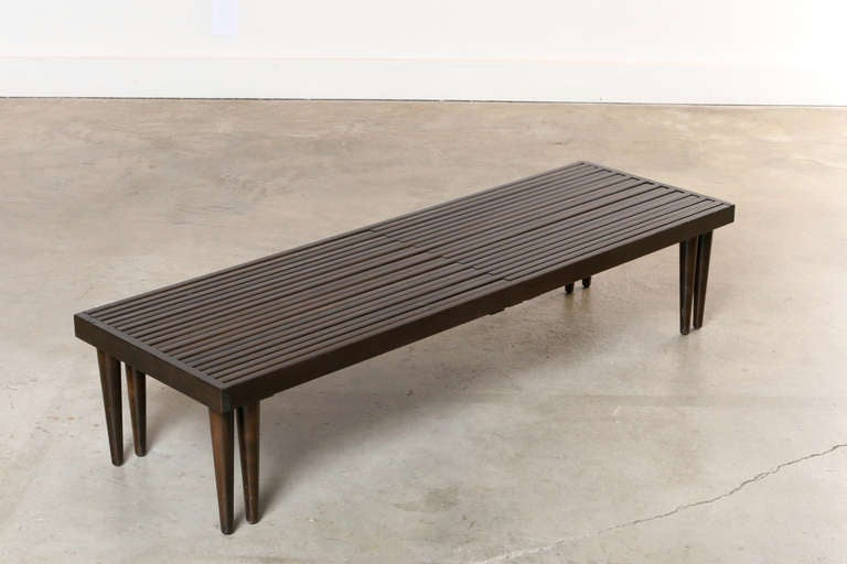 Expandable Coffee Table Fascinating Brown Saltman Expandable Slat Coffee Table At 1Stdibs Decorating Inspiration