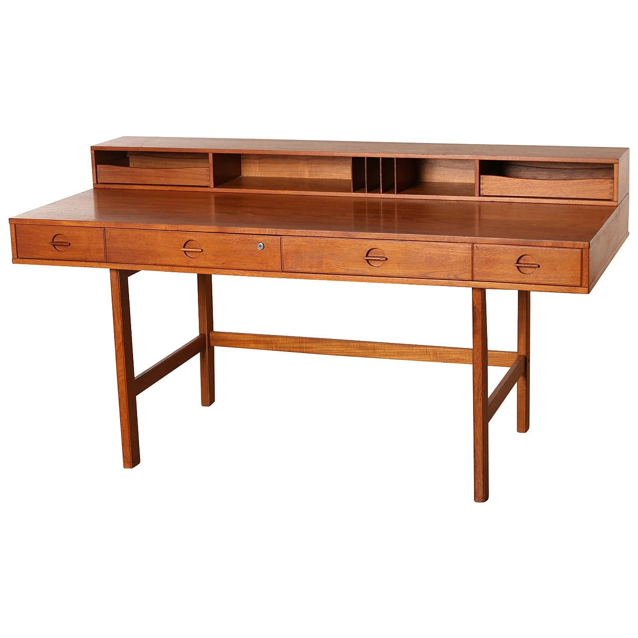 Teak Partners Desk By Jens Quistgaard For Peter Løvig Nielsen 1967 Denmark 1
