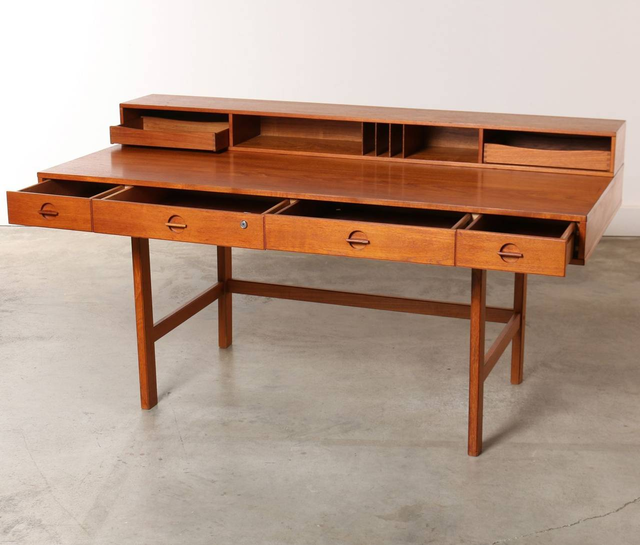 Teak Partners Desk By Jens Quistgaard For Peter Løvig Nielsen 1967 Denmark 3
