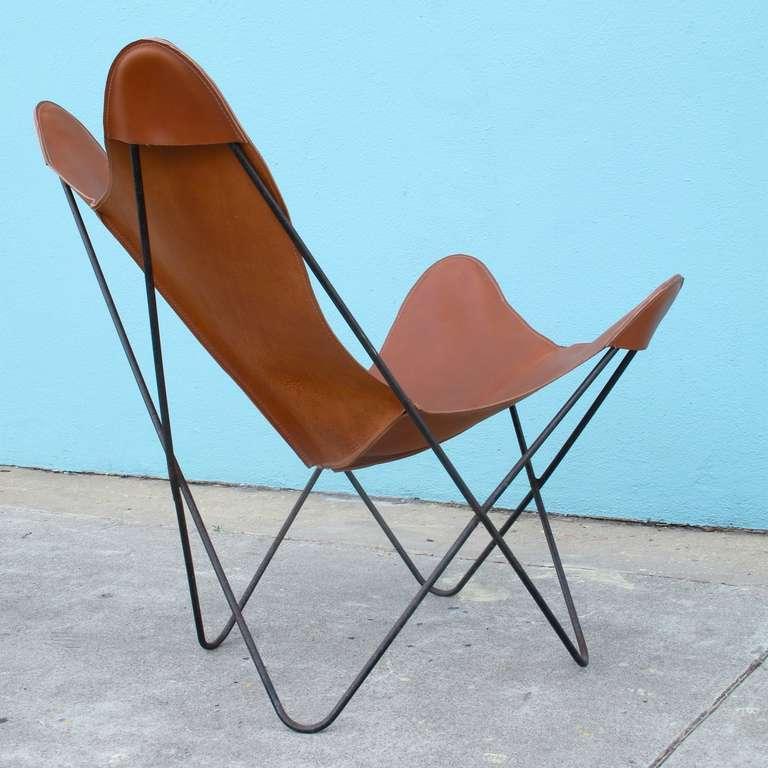 Good Hardoy Set, Aka Butterfly Chair And Ottoman, By Jorge Ferrari Hardoy For  Knoll