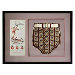 1940s BVD Deadstock Swimsuit and Advertising Card