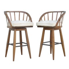 Bar Stool Set by Edward Wormley for Dunbar.