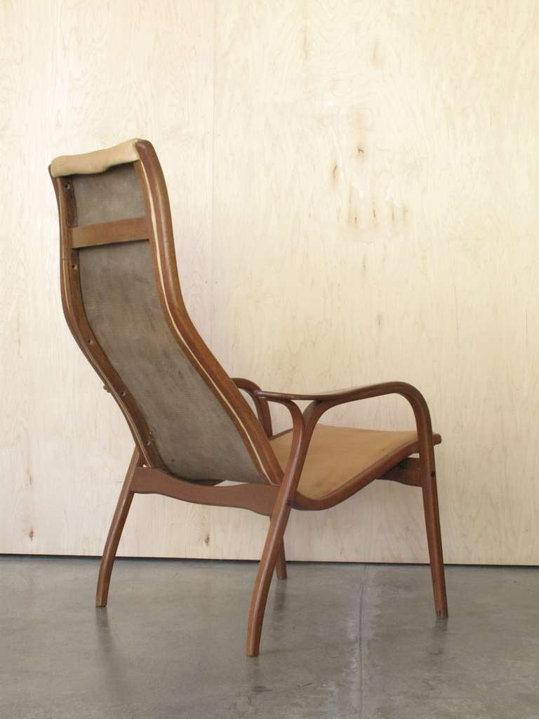 Vintage Lamino Lounge Chair with Ottoman by Ynge Ekstrom, Sweden at 1stdibs