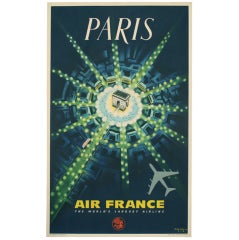Original Pierre Baudouin Air France Poster