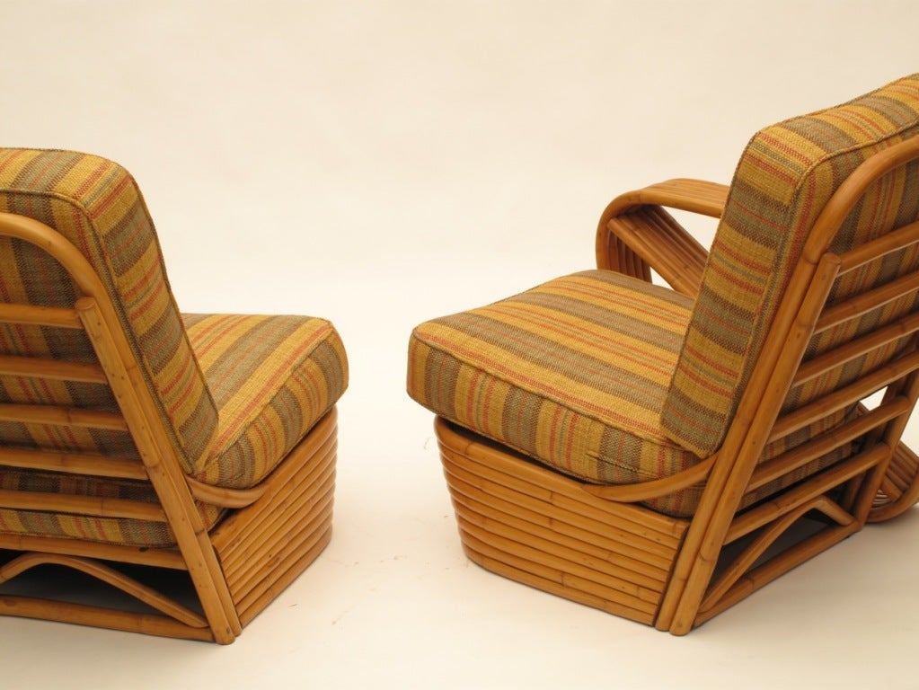 Paul Frankl Rattan Arm Chair and Loveseat Set image 3
