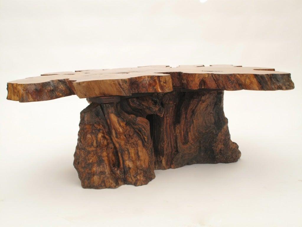 Organic Burlwood Redwood Coffee Table 1960 S At 1stdibs