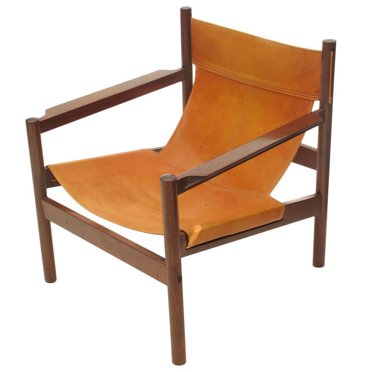 Michael Arnoult Brazilian Leather Sling Chair At 1stdibs