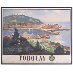 Great Western Railways, Travel Poster, circa 1947, Torquay, England
